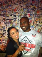The homie B, and the best baseball card wall ever!