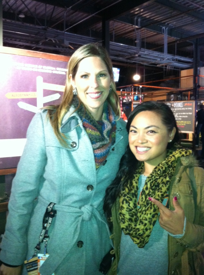 Amy G meets Abi B. If I could take it all back, I would've done Sports or Broadcast Journalism. Le sigh.