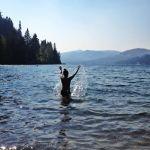 Purifying myself in the waters of Lake Minnetonka.