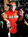 With the Marlins Man.